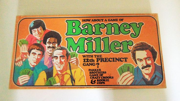 Barney Miller Board Game 1977 Parker Brothers 12th Precinct Gang Cops Police TV #ParkerBrothers