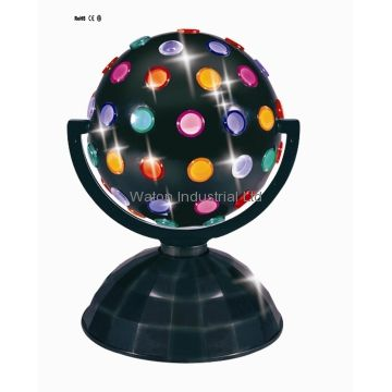 as this machine moves you and the lights are on all the lights look light disco ball going around the room but there are plenty of color lights.  http://resource.led-purchase.com/upload/g/20120817/11422088.png
