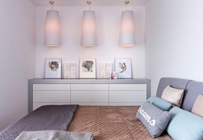wohnungseinrichtung-ideen-schlafzimmer-pastellfarben-kommode - schlafzimmer kommode weiß