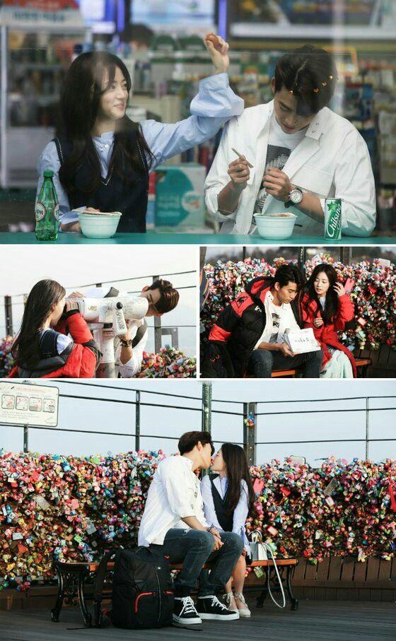 Taecyeon (Do Jin Woo) & Song Ha Yoon(Jin Hee Young) #kiss #cute #couple #minidrama