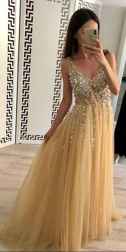 Beaded Prom Dress Long, Prom Dresses For Teens, Dresses For Party, Formal Dress, DT0420 – Schön…