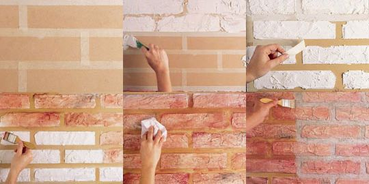 Decoração com parede de tijolinho à vista