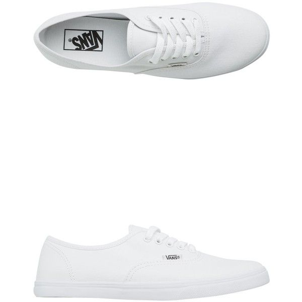Vans Authentic Lo Pro Shoe found on Polyvore featuring shoes, sneakers, white, lacing sneakers, low top sneakers, waffle shoes, low sneakers and laced shoes