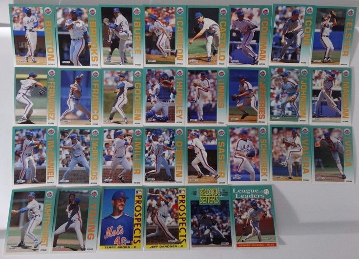 1992 Fleer New York Mets Team Set of 30 Baseball Cards #Fleer #NewYorkMets
