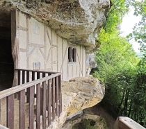 Lots of local history with houses built into caves