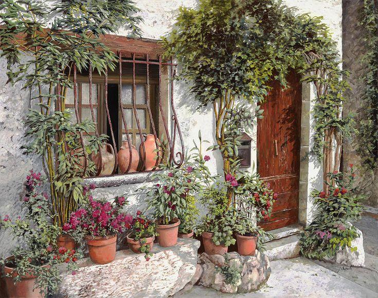 I Vasi Dietro La Grata Painting  - I Vasi Dietro La Grata Fine Art Print