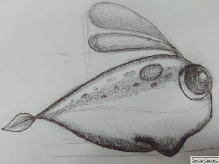 Sketsa karakter utama game Magnetic Muffy Pencil on paper.