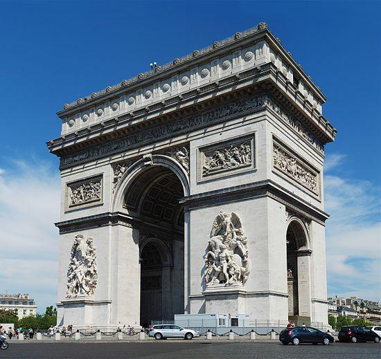 Arco de Triunfo, Paris por Goudain y Lepére, mandado construir por Napoleón para conmemorar la victoria en Austerlitz.