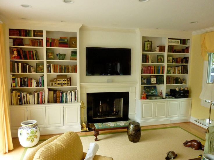 Best Fireplace Cabinets Images On Pinterest - Fireplace with bookshelves