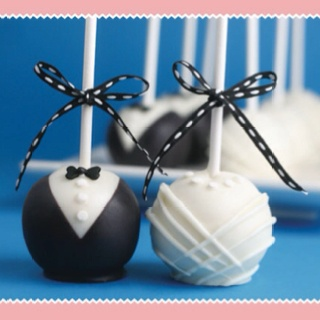 tiffany co playing cards Great idea for a rehearsal dinner Bride and groom cake pops