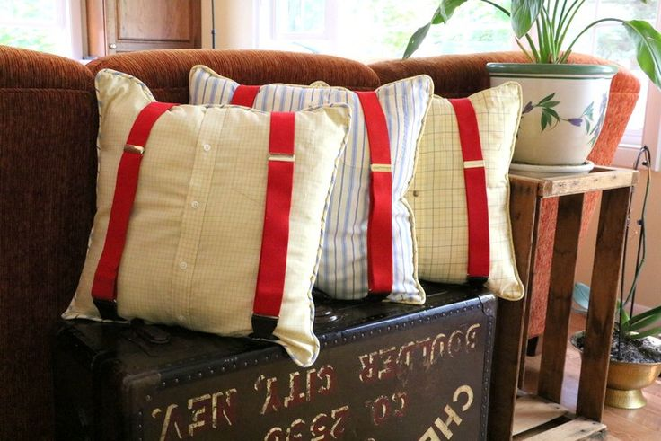 Memory Pillow with suspenders