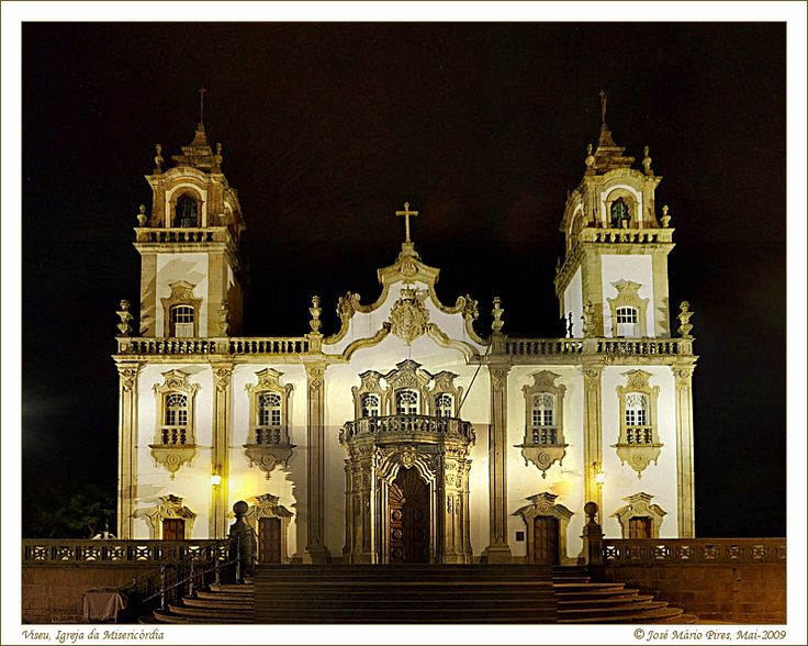Basilica at night in Viseu, central Portugal- From Viseu to lucasgalodoido, paura &...