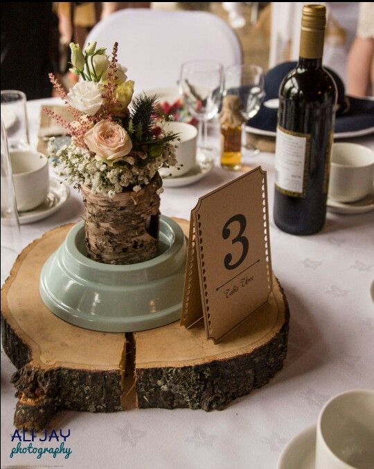 Tree Slice Table Centrepiece