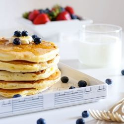 Here the best recipe I ever done for pancakes! Enjoy.