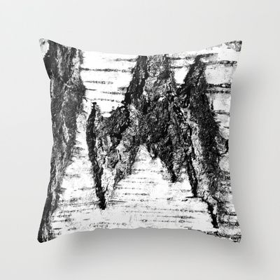 "Throw Pillow / Indoor Cover (16"" X 16"") • 'Bjørk' • IN STOCK • $20.00 • Go to the store by clicking the item."