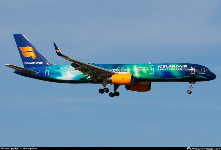 Icelandair Boeing 757-256(WL) TF-FIU aircraft, advertising 'Stopover in Iceland', on short finals to the Netherlands Amsterdam Schiphol International Airport. 10/03/2015.