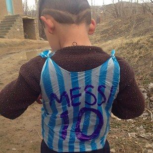The Little Kid Who Wore A Plastic Bag Messi Shirt Now Has The Real Thing