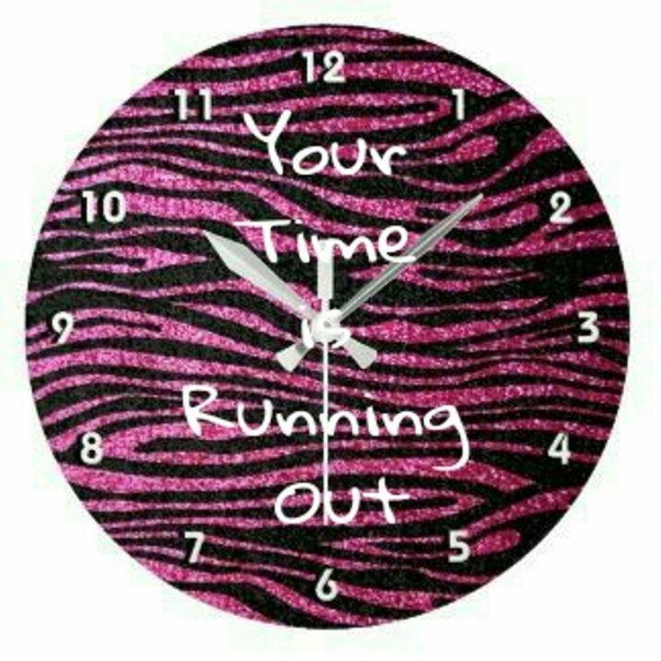 Pink zebra clock