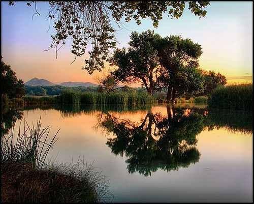 Mojave Narrows, Victorville, California at sunrise.