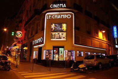rue Champollion - Paris 5ème - Cinéma Le Champo, classé aux MH .