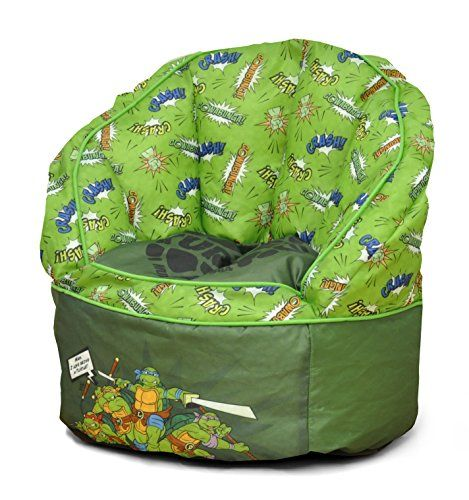 Kids' Bean Bag Chairs - Nickelodeon Teenage Mutant Ninja Turtles Toddler Bean Bag Green * Check out the image by visiting the link.