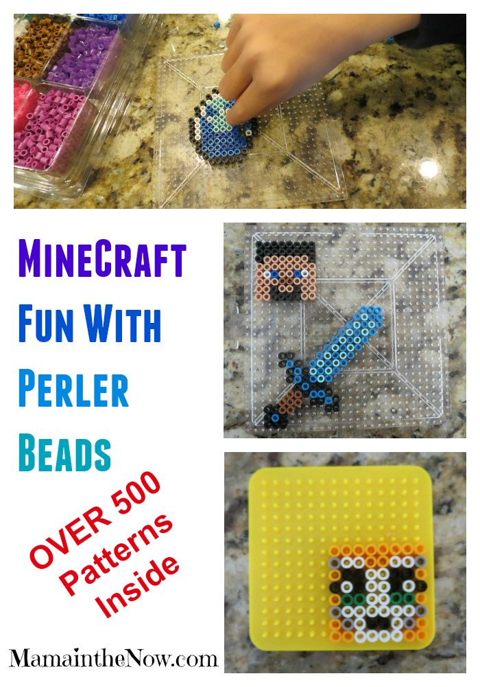 Over 500 Minecraft and Pokemon Perler Patterns Inside! Everything you need to get started - and to keep your kids busy for hours!! Hours, I tell you! :)