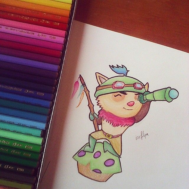 teemo from league of legends ; another fan art