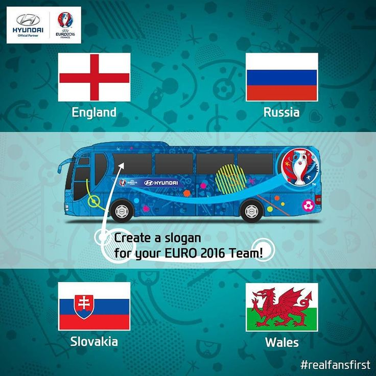 Cheer on your #EURO2016 team in #GroupB by entering a slogan in the Be There With Hyundai #event!  Winners will receive a pair of EURO 2016 tickets and have their slogan displayed on the teams official bus!  Enter here: uefa.to/1RbskeX  #realfansfirst #Hyundai #UEFA #Officialpartner #Football by hyundai_worldwide