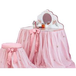 1000 ideas about little girl vanity on pinterest girls vanity table silver metallic paint. Black Bedroom Furniture Sets. Home Design Ideas