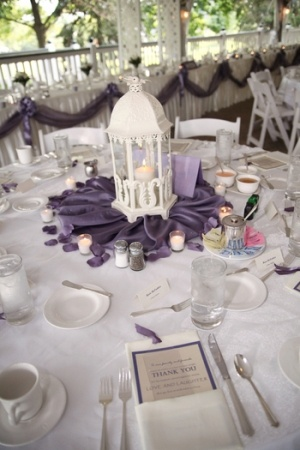 Victorian Lilac Centerpiece Accessories Handmade Pew Bows Faux Petals And More
