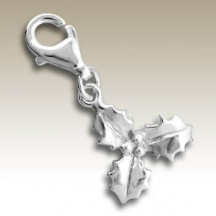 alisilverjewellery.com: Charms with Lobster , Holly charm with lobster - finishing: Sterling silver+E-coat - size: 1.3x1.3cm.
