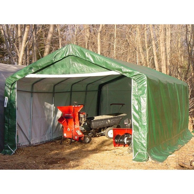 Rhino 12Wx20Lx8H Green Instant Garage House