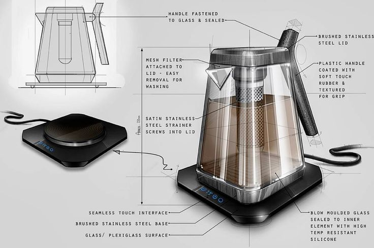 A freelance concept design for Denka Design Consultancy  ______________________________ #industrialdesign #productdesign #idsketching #Wacom #digitalillustration #conceptsketch #rendering #kettle #induction #ergonomics #sketch #drawing #photoshop #digitalart #digital