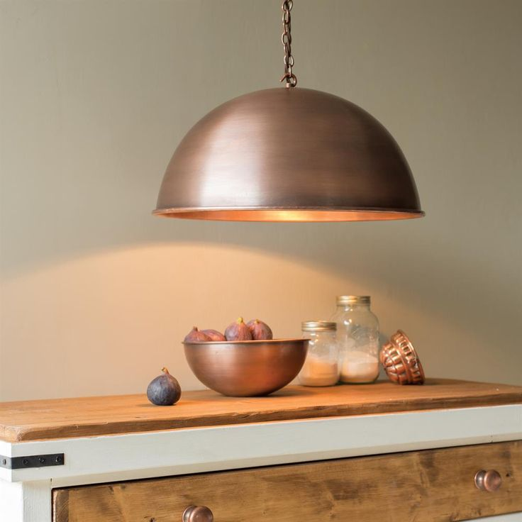 Our large Leiston #Pendant with its gently curved shade is now available in #Heritage #Copper. Perfect for adding those #metallic #tones.