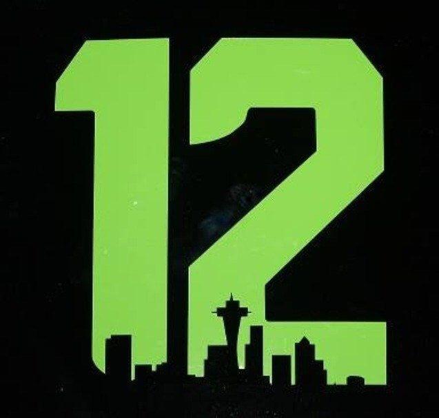 Original Seattle Skyline Seahawks 12th Man T-Shirt