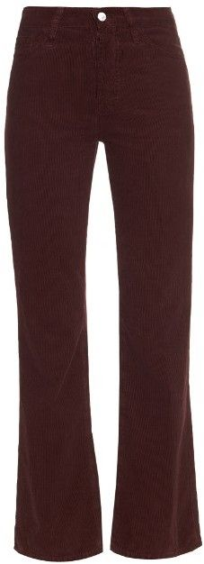 ALEXA CHUNG FOR AG The Revolution high-rise flared corduroy jeans