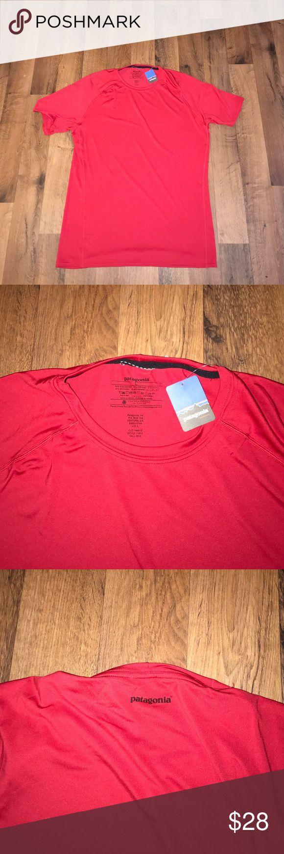 New Patagonia Capilene Running Shirt Red New Patagonia Shirts Tees - Short Sleeve