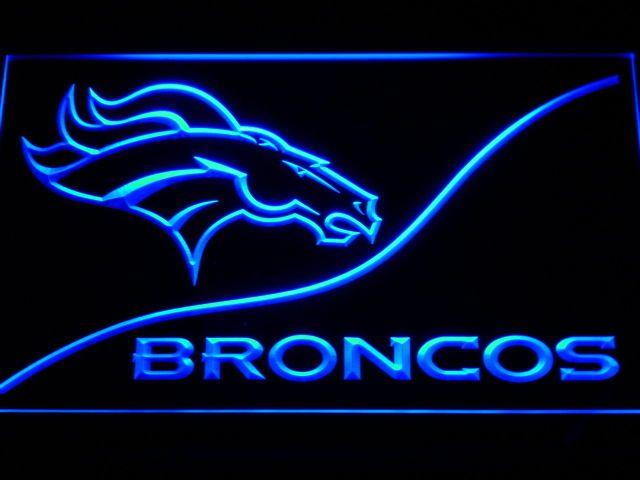 Denver Broncos LED Neon Sign Light NFL Football  #Unbranded #DenverBroncos