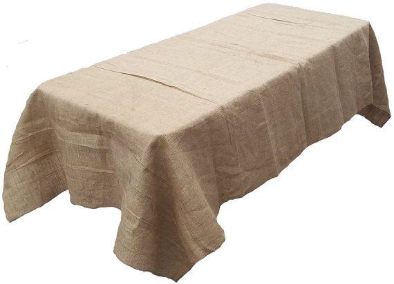 70 x 144 Burlap Tablecloth by BurlapFabriccom on Etsy, $49.99