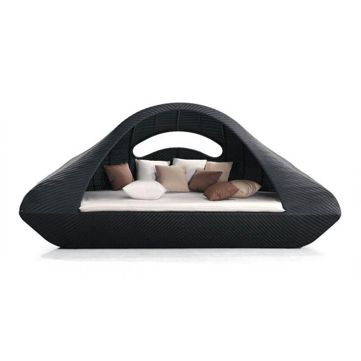 Leżaki, siedziska, leżanki : Island - meble ogrodowe z technorattanu łoże leżanka - Twoja Siesta
