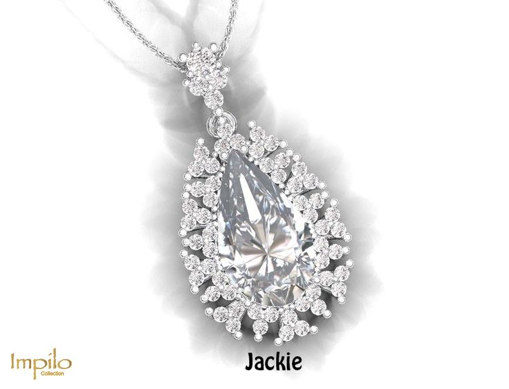 """""""Jackie"""" - This contemporary piece is sure to steal your heart, one pear shaped diamond centre stone surround by round brilliant cut diamonds in an extraordinary design."""