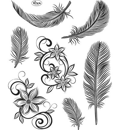 Viva Decor Clear Stempel - Feathers
