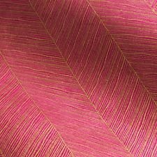 Gold Chevron Lines on Fuchsia Fine Paper