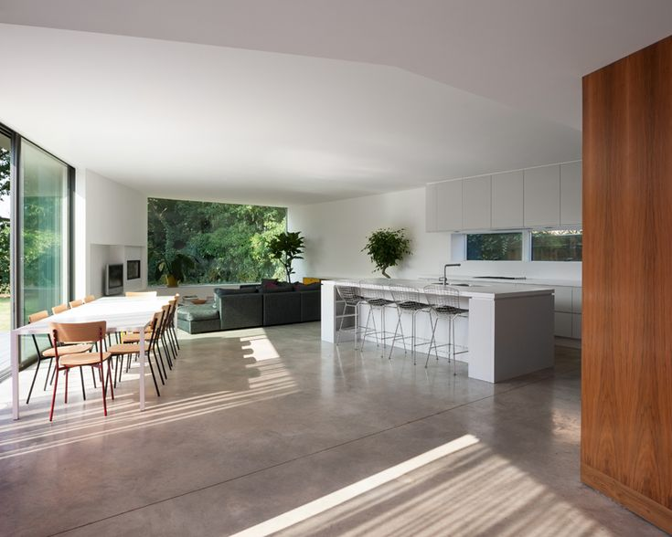 Modern Open Plan Living Room And Kitchen