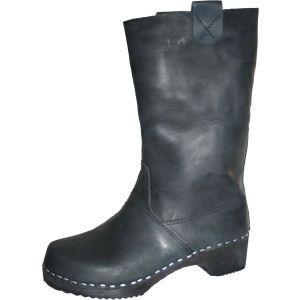Black Oil Clog Boots
