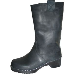 Black Oil Clog Boots