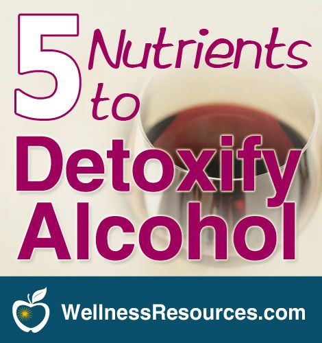 If you drink alcohol, even in moderation, it's important to support detoxification processes and protect your nervous system.
