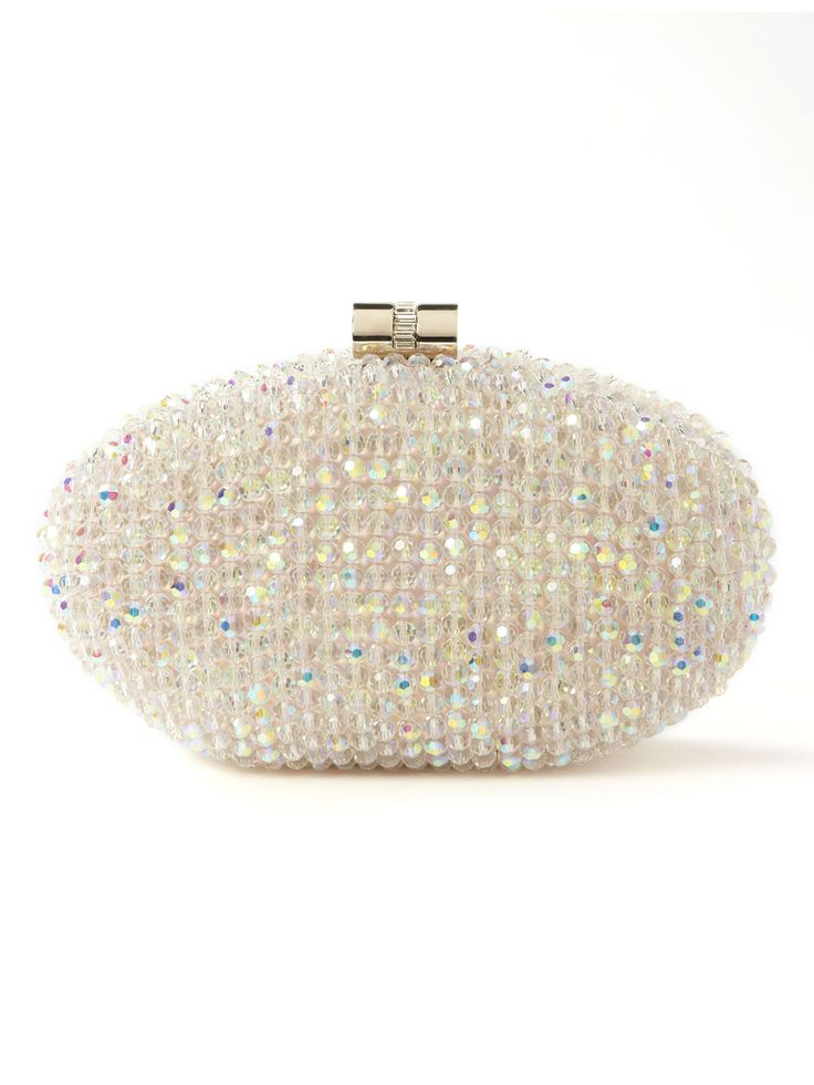THE bag! Ivory Iridescent Stone Clutch | Accessorize ...