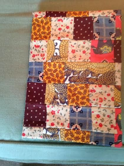 Patchwork Pea - crafty things by Clare: Patchwork notebook