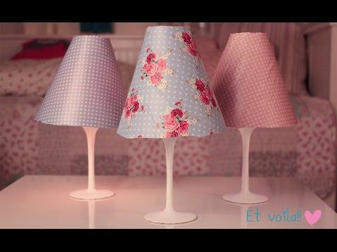 DIY Wine Glass Candle Lampshades - COOL IDEAS